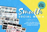 1400+ Smooth Social Media Templates - Instagram, Facebook, Pinterest & Twitter - $39! - MyDesignDeals