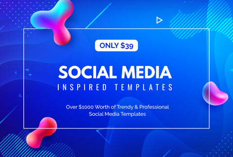Social Media Inspired Templates - Worth Over $1000 - Only $39 - MyDesignDeals