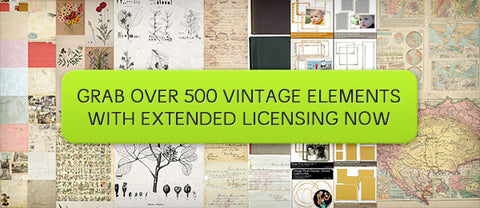 Special Vintage Kit (with Extended Licensing) - Only $37 - MyDesignDeals