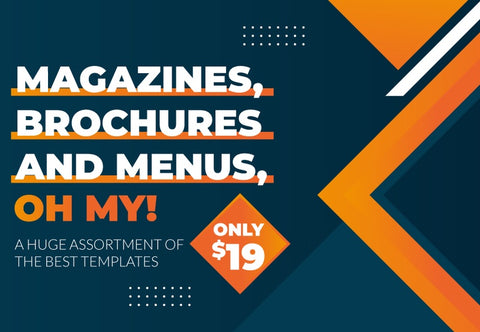 Templates: Magazines, Brochures and Menus, Oh My! - Just $19 - MyDesignDeals