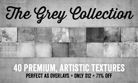 The Grey Collection (40 Premium, Artistic Textures) - Only $12 - MyDesignDeals