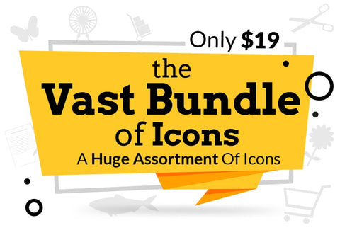 The Vast Bundle Of Icons - Just $19 - MyDesignDeals