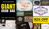 The Top Designer's Giant Grab Bag (Thousands of Resources w/Extended Licensing) - Only $39 - MyDesignDeals