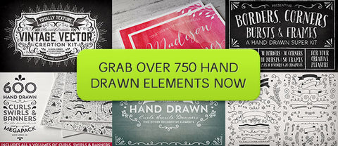 The Ultimate Hand Drawn Mega Pack - Only $29 - MyDesignDeals