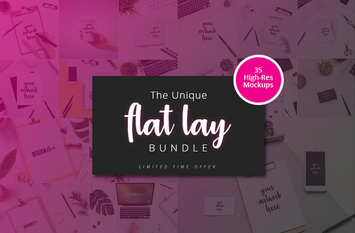 The Unique Flat Lay Bundle - Only $17 - MyDesignDeals