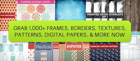 Mega Pack of Frames, Borders, Textures, Patterns, Digital Papers, & More - Only $29 - MyDesignDeals