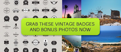 DIY Vintage Badge Kit (Plus Bonus Photos) - Only $9 - MyDesignDeals