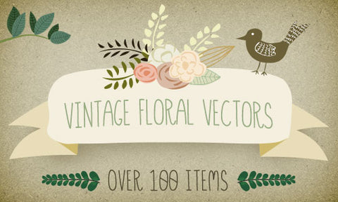 Vintage Floral Vector Bundle from Mia Charro - Only $15 - MyDesignDeals