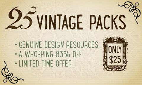 Complete Vintage Design Collection - Only $25 - MyDesignDeals