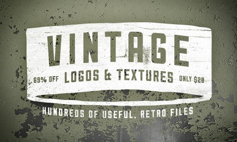 Vintage Logos and Textures Mega Bundle - Only $20 - MyDesignDeals