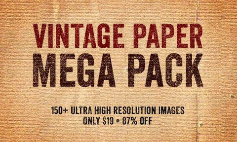 150+ Authentically Vintage Paper Textures - Only $19 - MyDesignDeals
