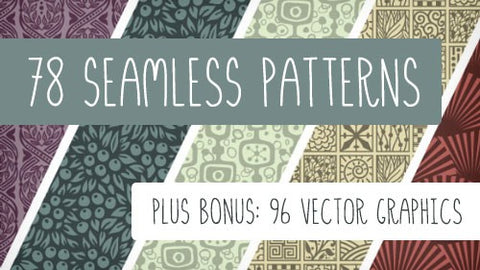 78 Seamless Vector Patterns Plus 96 Bonus Vectors - Only $19 - MyDesignDeals