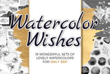 Watercolor Wishes - 18 Sets! Only $39 - MyDesignDeals