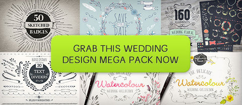 Wedding Design Mega Pack (with Extended Licensing) - Only $39 - MyDesignDeals