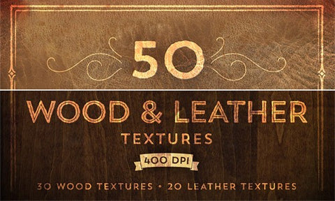 50 Finely Detailed Wood and Leather Textures (Plus Bonuses) - Only $15 - MyDesignDeals