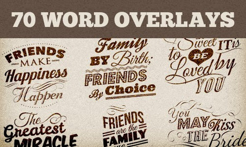 70 Editable Vector Word Overlays - Only $19 - MyDesignDeals