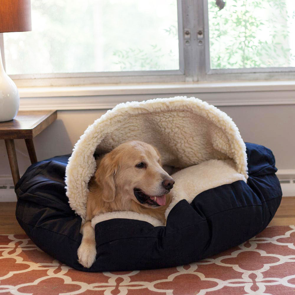 Cozy Cave Dog Bed hundeseng (317248765980)