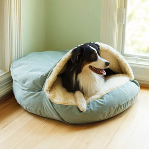 Luxury Cozy Cave Dog Bed hundeseng (317256728604)