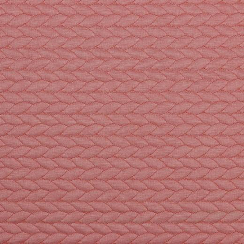 CABLE KNIT JACQUARD JERSEY FABRIC - ROSE