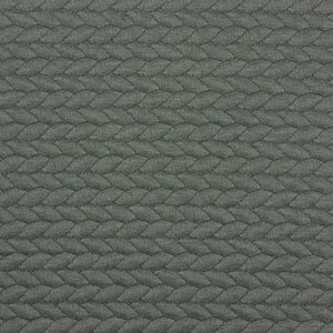 CABLE KNIT JACQUARD JERSEY FABRIC - GREEN