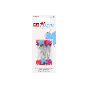 PLASTIC-HEADED PINS PRYM LOVE - 50 X 0.6 MM, ASSORTED - Lilly and Mimi Fabric Shop