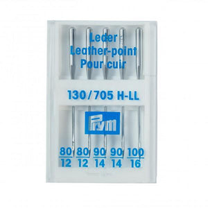 LEATHER SEWING MACHINE NEEDLES - 130/705, 80-100 ASSORTED