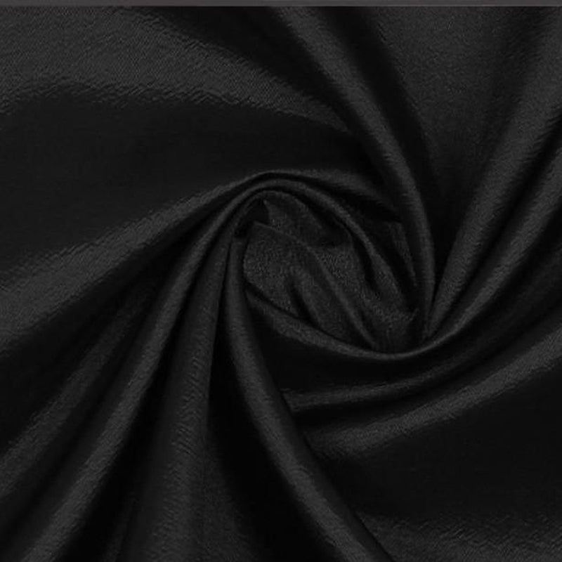 BLACK TAFFETA FABRIC POLYESTER