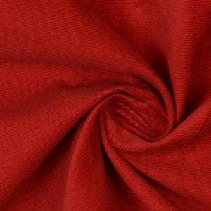RED COTTON CORDUROY FABRIC
