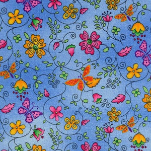 SUNRISE IN BLUE ORGANIC COTTON WOVEN FABRIC - Lilly and Mimi Fabric Shop