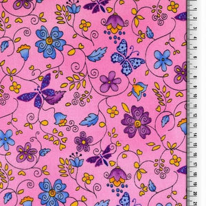 SUNRISE IN PINK ORGANIC COTTON WOVEN FABRIC - Lilly and Mimi Fabric Shop