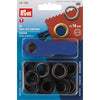 PRYM EYELETS AND WASHERS 14 MM - BLACK OXYDIZED