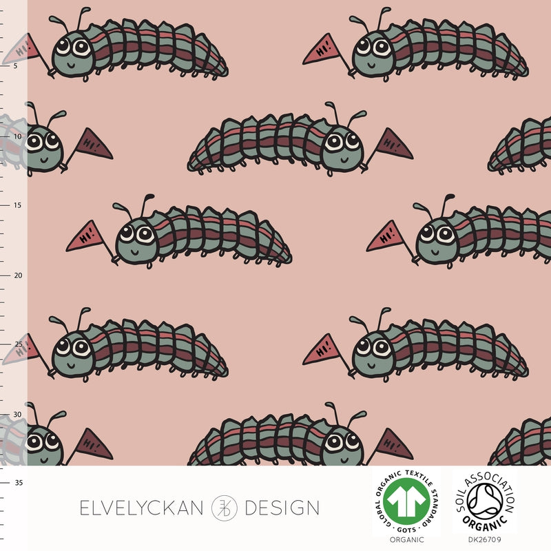 LARVA - DUSTY PINK ORGANIC COTTON JERSEY BY ELVELYCKAN DESIGN - Lilly and Mimi Fabric Shop