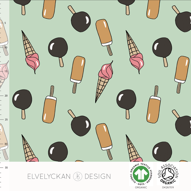 POPSICLE - NEO MINT ORGANIC COTTON JERSEY BY ELVELYCKAN DESIGN - Lilly and Mimi Fabric Shop
