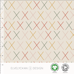 STICKS - CREME ORGANIC COTTON JERSEY BY ELVELYCKAN DESIGN