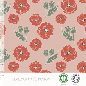 POPPY - DUSTY PINK ORGANIC COTTON JERSEY BY ELVELYCKAN DESIGN