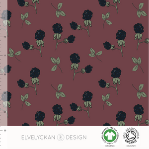 BLACKBERRY - WINE ORGANIC COTTON JERSEY BY ELVELYCKAN DESIGN