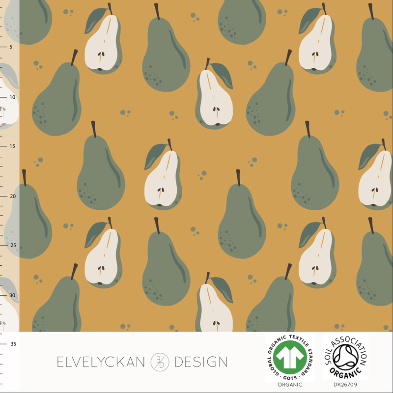 PEARS - GOLD ORGANIC COTTON JERSEY BY ELVELYCKAN DESIGN