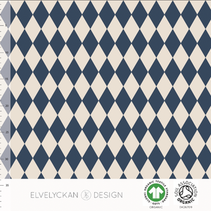HARLEQUIN COLLEGE - DARK BLUE BY ELVELYCKAN DESIGN