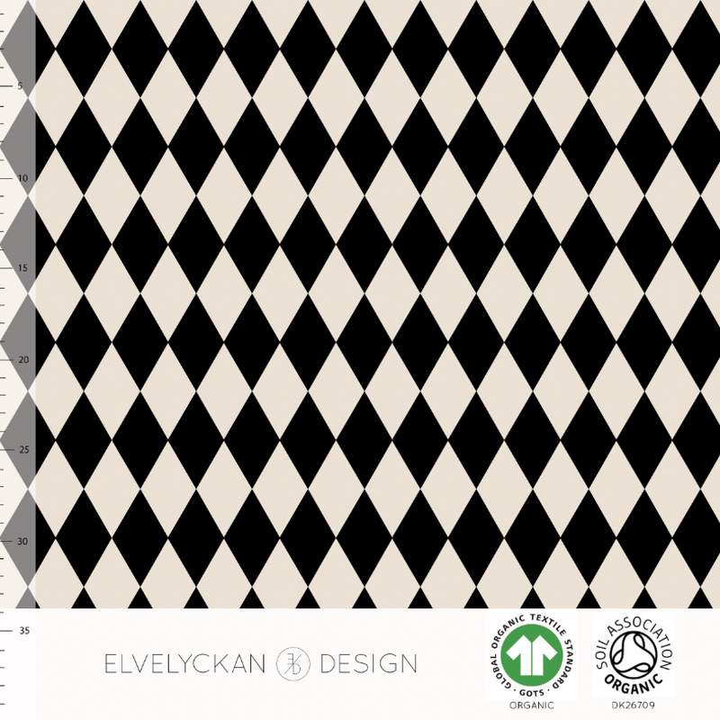 HARLEQUIN - BLACK ORGANIC COTTON JERSEY BY ELVELYCKAN DESIGN