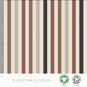 VERTICAL SLIM - CAPPUCCINO ORGANIC COTTON JERSEY BY ELVELYCKAN DESIGN
