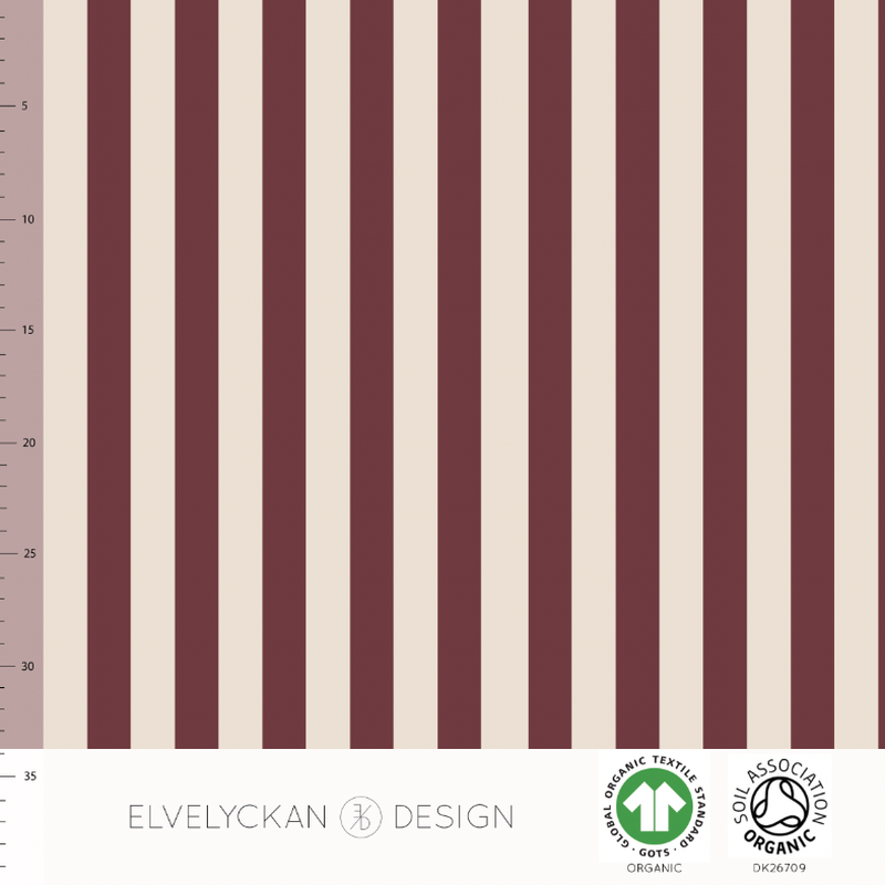 VERTICAL - WINE ORGANIC COTTON JERSEY BY ELVELYCKAN DESIGN