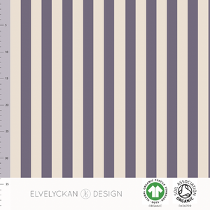 VERTICAL - PURPLE ORGANIC COTTON JERSEY BY ELVELYCKAN DESIGN