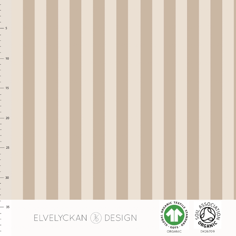 VERTICAL - CAPPUCCINO ORGANIC COTTON JERSEY BY ELVELYCKAN DESIGN