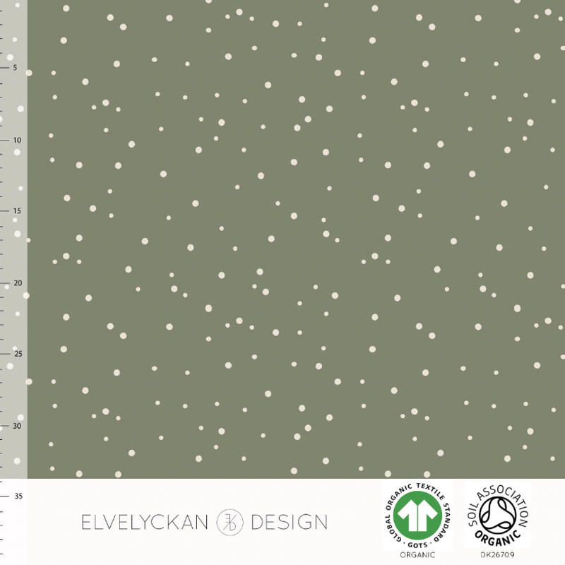 SPOTS - GREEN ORGANIC COTTON JERSEY BY ELVELYCKAN DESIGN