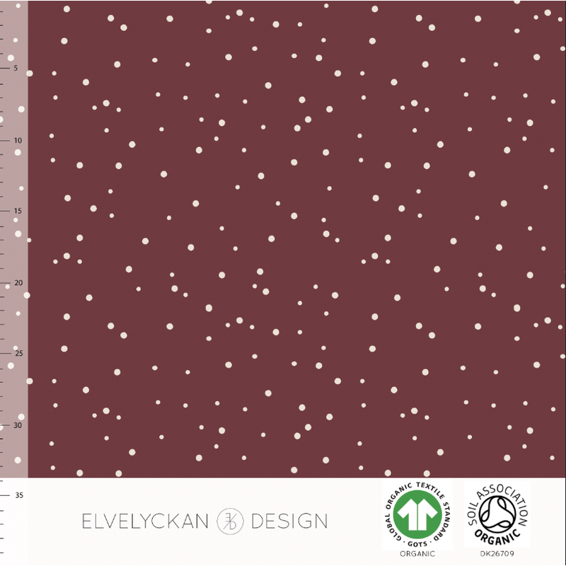 SPOTS - WINE ORGANIC COTTON JERSEY BY ELVELYCKAN DESIGN