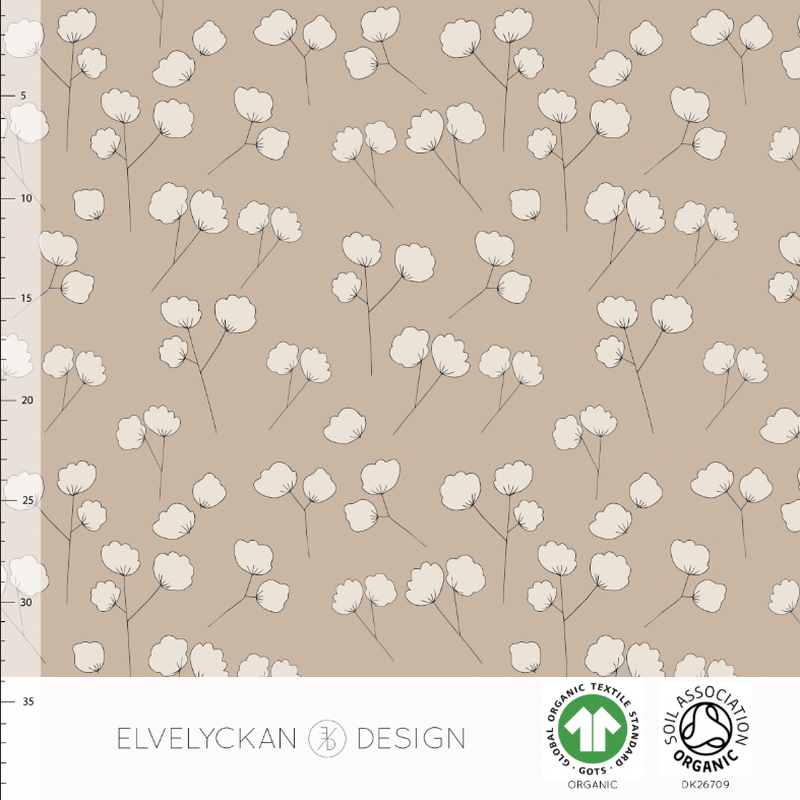COTTON BUD - CAPPUCCINO ORGANIC COTTON JERSEY BY ELVELYCKAN DESIGN