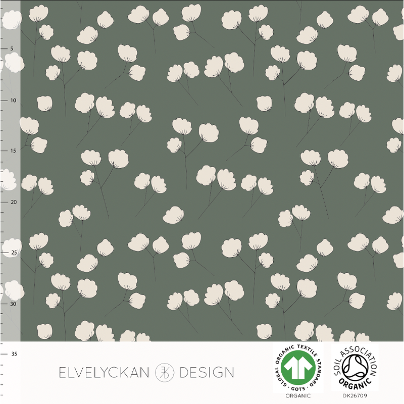COTTON BUD - GREEN ORGANIC COTTON JERSEY BY ELVELYCKAN DESIGN