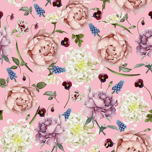 PRESALE! ROSES IN PINK ORGANIC COTTON JERSEY