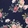 ROSES IN NAVY SCUBA FABRIC
