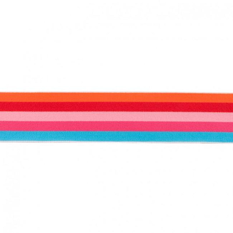 MULTI STRIPES ELASTIC ORANGE - 40 MM